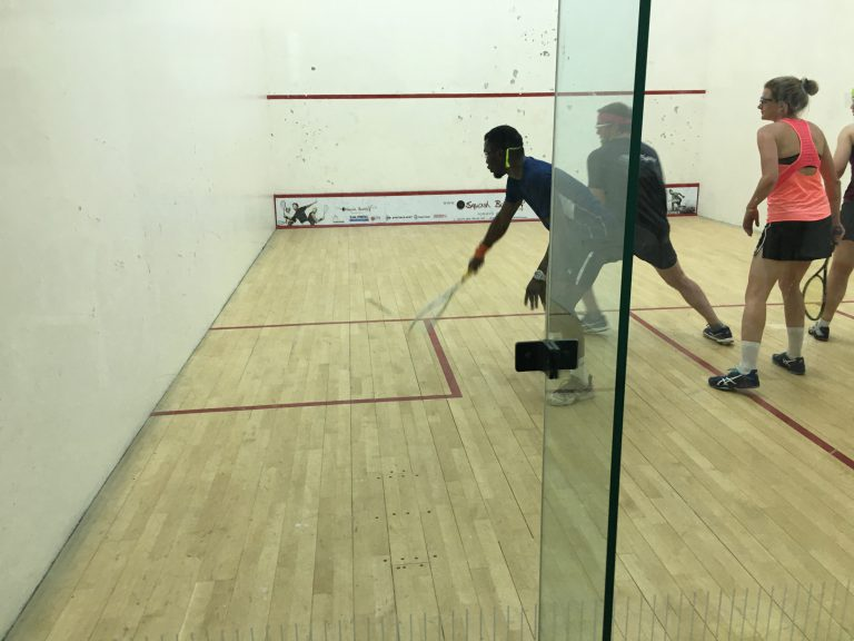 Kelvin Ndholvu at Mielieland squash tournament